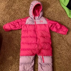 North Face Down Snowsuit 12-18 months